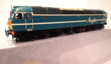 Bachmann 38-8175D, Class 47, Anglia Railways Blue, 47714, regional exclusive model, in excellent