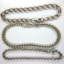 Three 925 silver bracelets, combined 20g. P&P Group 1 (£14+VAT for the first lot and £1+VAT for