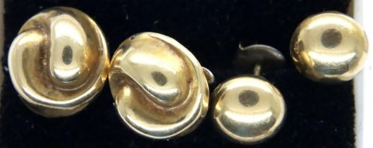 Two pairs of 9ct gold earrings, combined 3.3g. P&P Group 1 (£14+VAT for the first lot and £1+VAT for