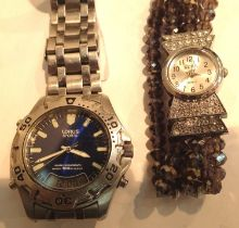 Two wristwatches including a Lorus Sports example. P&P Group 1 (£14+VAT for the first lot and £1+VAT
