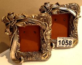 Two miniature silver plated photograph frames. P&P Group 1 (£14+VAT for the first lot and £1+VAT for