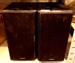 Pair of Sony CMX T50 speakers. Not available for in-house P&P, contact Paul O'Hea at Mailboxes on