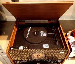 GPO Chesterton Analogue Retro Music Centre; 3 speed turntable; CD/ MP3/ USB player; FM radio; MP3