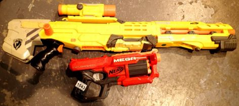 Nerf assault rifle and a Nerf Mega gun. Not available for in-house P&P, contact Paul O'Hea at