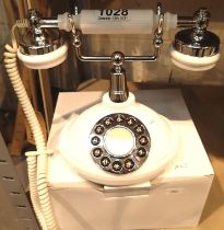 GPO Opal classic retro push button telephone compatible with modern telephone banking and any