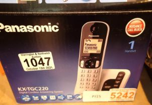 Panasonic KXTGC220 digital cordless answering system. Not available for in-house P&P, contact Paul