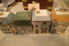 Five Brooks Bentley spice houses. Not available for in-house P&P, contact Paul O'Hea at Mailboxes on