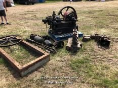 VINTAGE HORNSBY STATIONARY ENGINE WITH PARTS