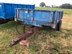3 TONNE TRAILER ON TWIN AXLE WITH RAMPS