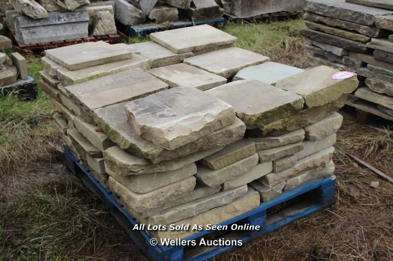 *PALLET OF YORKSTONE SLABS, APPROX 6 SQ MTRS