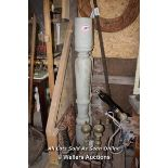 *PAIR OF TURNED POSTS, EACH 160CM HIGH