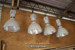 *FOUR LARGE INDUSTRIAL LIGHTS