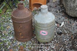*TWO METAL MILK CONTAINERS