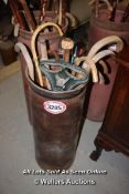 *COLLECTION OF WALKING STICKS TOGETHER WITH CONTAINER