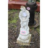 *STONE SCULPTURE OF A LADY, 105CM HIGH