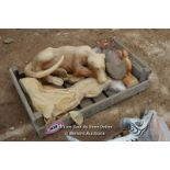 *CRATE OF VARIOUS WOODEN ANIMALS