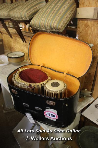 *PAIR OF BONGO DRUMS IN A CASE - Image 2 of 2