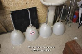 *FIVE CEILING LIGHTS FROM THE ROSE BOWL CRICKET GROUND, SOUTHAMPTON