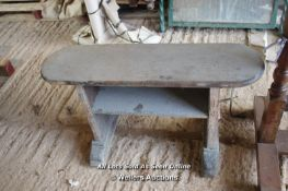 *SMALL WOODEN FOOTSTOOL