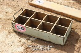 *VINTAGE EIGHT COMPARTMENT WOODEN TRAY