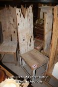 *LARGE DRIFTWOOD HIGH BACK CHAIR, APPROX 166CM HIGH