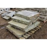 *PALLET OF OIL LEAKED YORKSTONE SLABS, APPROX 5 SQ MTRS