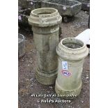*TWO QUEEN HEAD CHIMNEY POTS, THE TALLEST 92CM