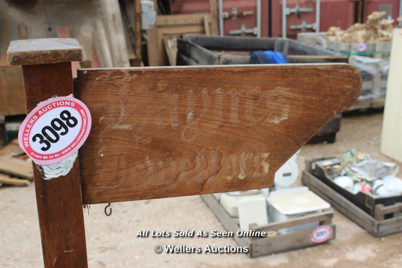*WOODEN SIGN, 115CM HIGH - Image 2 of 2