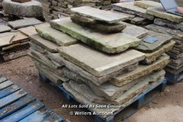 *PALLET OF YORKSTONE SLABS, APPROX 7 SQ MTRS