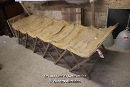 *ANTIQUE FOLDING MILITARY CAMPING BED