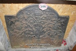 *CAST EMBOSSED FIRE BACK (A/F)