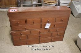 *TWO RECLAIMED NEST OF DRAWERS