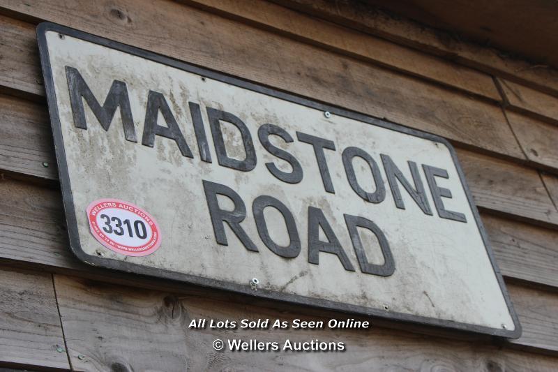 *METAL STREET SIGN 'MAIDSTONE ROAD', 76CM X 38CM