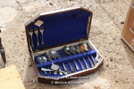 *WOODEN CASE WITH CUTLERY CONTENTS
