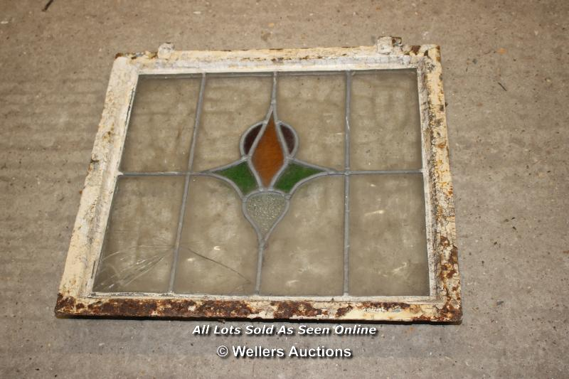 *FOUR STAINED GLASS CRITTAL WINDOWS, THREE 41CM X 41CM, ONE 51CM X 51CM - Image 2 of 2
