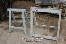 *TWO WOODEN TRESTLES