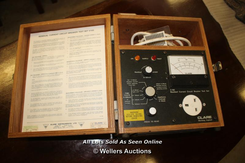 *RESIDUAL CURRENT CIRCUIT BREAKER TEST SET V165 - Image 2 of 4