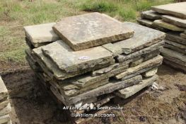 *PALLET OF YORKSTONE SLABS, APPROX 10 SQ MTRS