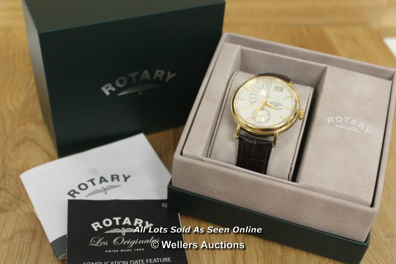 *GENTS WATCH,ROTARY LES ORIGIONALS,QUARTZ MOVEMENT,SILVER SUNBURST BATTON DIAL WITH DAY DATE - Image 3 of 3