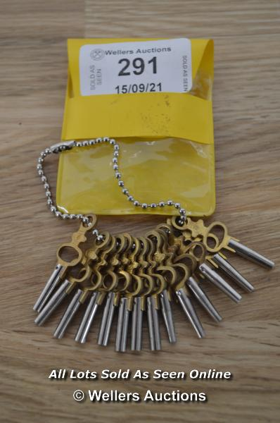 SMALL CARRIAGE CLOCK KEYS, SIZE 00-12