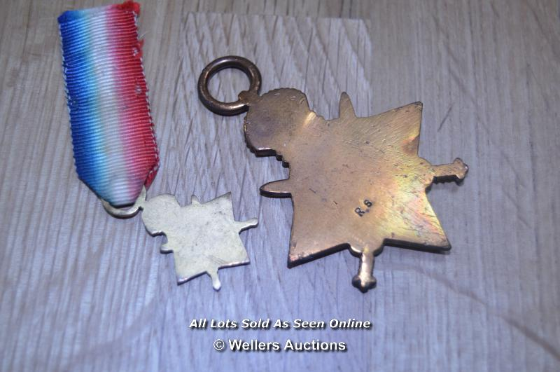 COLLECTION OF BRITISH GREAT WAR IMPERIAL SERVICE MEDALS INCLUDING 2X MINITURES 6X FULL SIZE MEDALS - Image 6 of 6