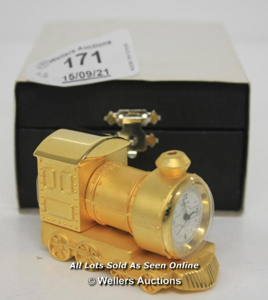 IMPERIAL,QUARTZ,TRAIN CLOCK / APPEARS TO BE NEW - OPENED BOX