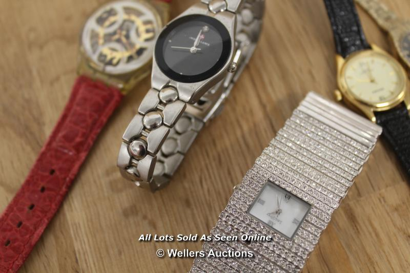 SIX ASSORTED LADIES WATCHES INCLUDING SEKONDA, ROTARY AND SWISS BALANCE, ALL SPARES AND REPAIRS - Image 3 of 3