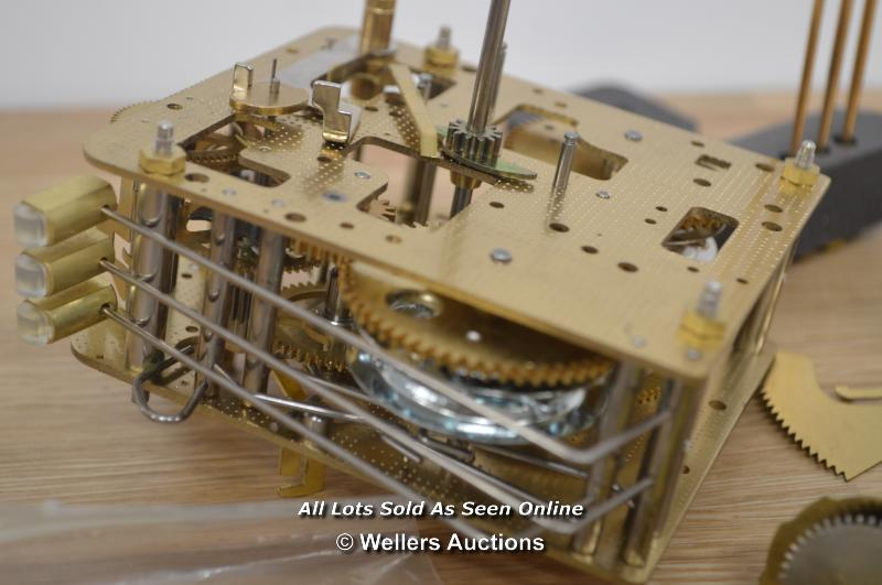HERMLE 2CHAIN DRIVEN MOVEMENT WITH PENDULUM BOB,HANDS AND FITTINGS. - Image 2 of 4