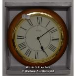 ACCTIM,ARNSIDE, QUARTZ WALL CLOCK,ANALOGUE, NATURAL WOOD FINISH. / APPEARS TO BE NEW - OPENED BOX