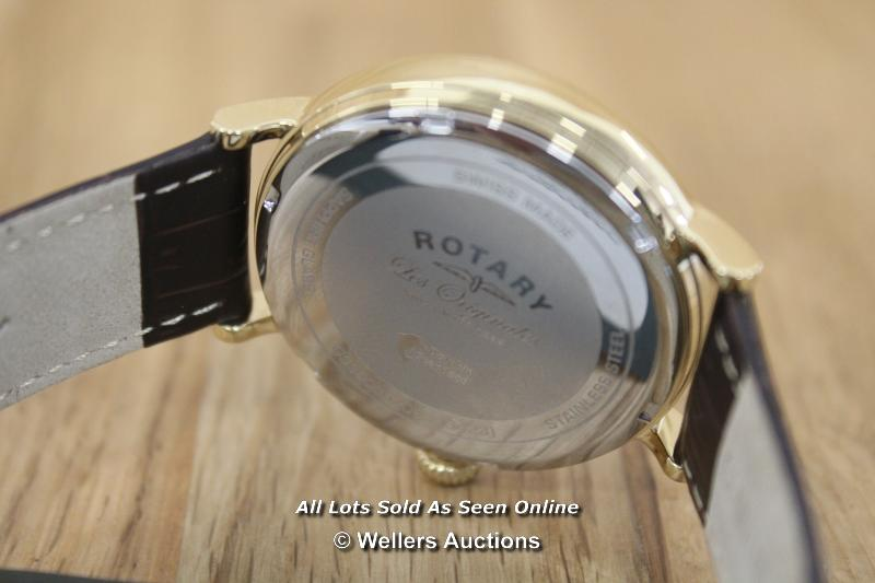 *GENTS WATCH,ROTARY LES ORIGIONALS,QUARTZ MOVEMENT,SILVER SUNBURST BATTON DIAL WITH DAY DATE - Image 2 of 3