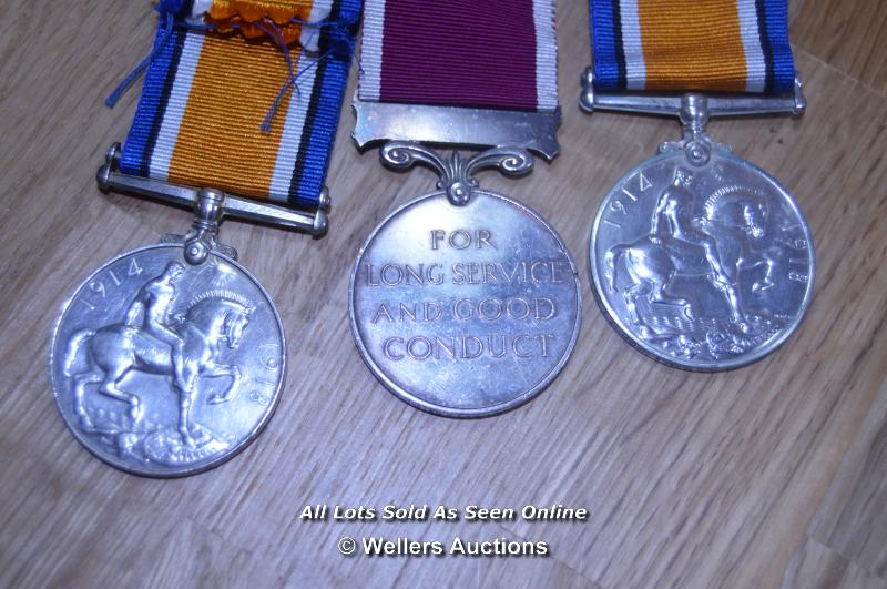 COLLECTION OF BRITISH GREAT WAR IMPERIAL SERVICE MEDALS INCLUDING 2X MINITURES 6X FULL SIZE MEDALS - Image 4 of 6