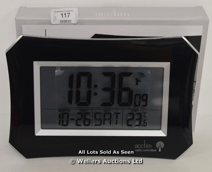 ACCTIM,HALO,RADIO CONTROLLED,LCD WALL CLOCK / NEW & SEALED