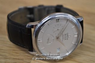 *GENTS OMEGA DE VILLE CO-AXIAL, 39.5MM STAINLESS STEEL CASE, SILVER ROMAN BATTON DIAL WITH DATE, SUB