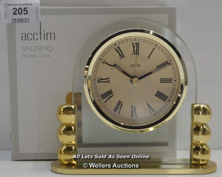 ACCTIM,SALERNO,QUARTZ MANTEL CLOCK / APPEARS TO BE NEW - OPENED BOX